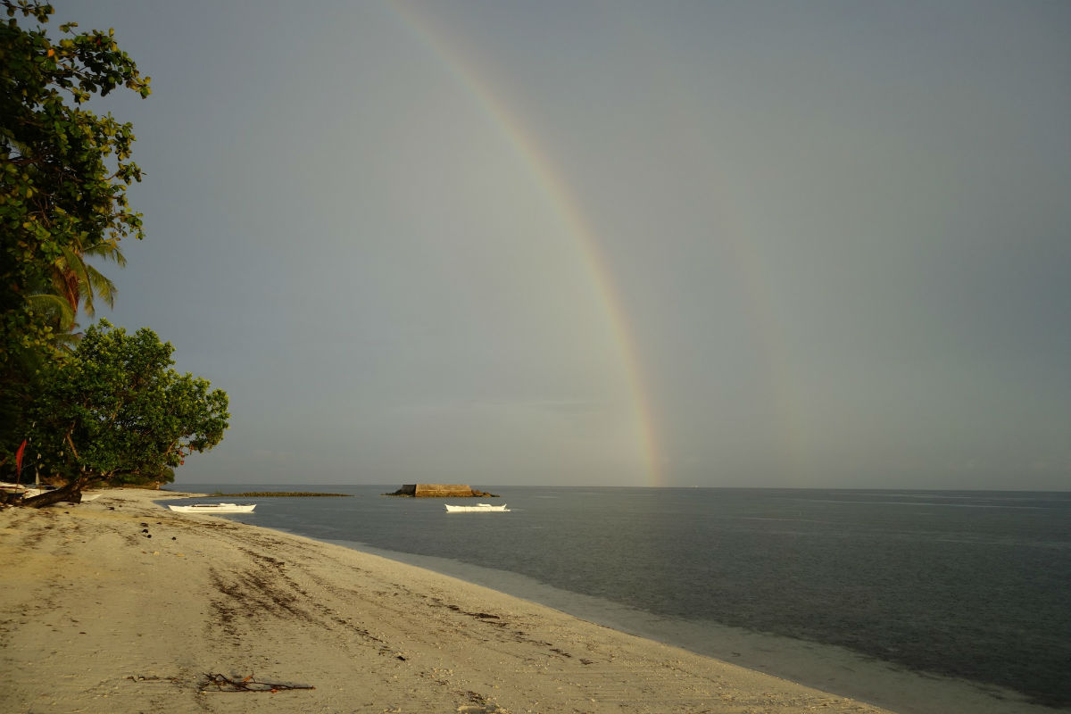 A rainbow caught at Momo Beach, Panglao, Bohol